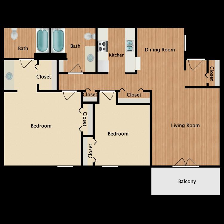 Floor plan image of Edwin