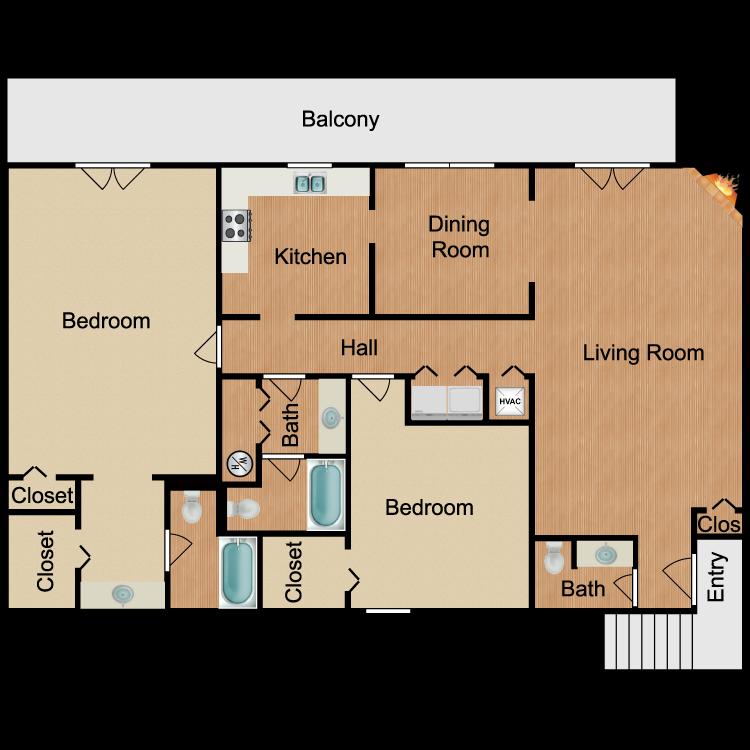 Floor plan image of Vaughn