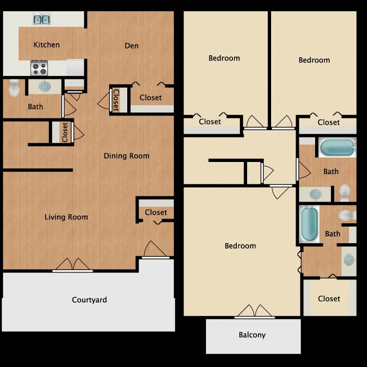 Floor plan image of Warner