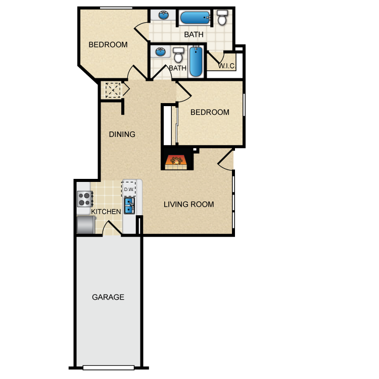 Floor plan image of Via Tuscany with Attached Garage