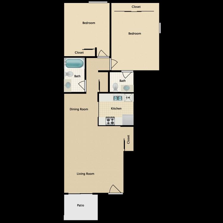 Floor plan image of Plan 2A