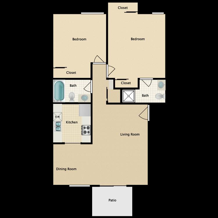 Floor plan image of Plan 2B
