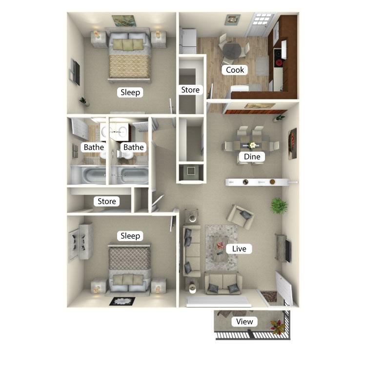 Floor plan image of The Azalea