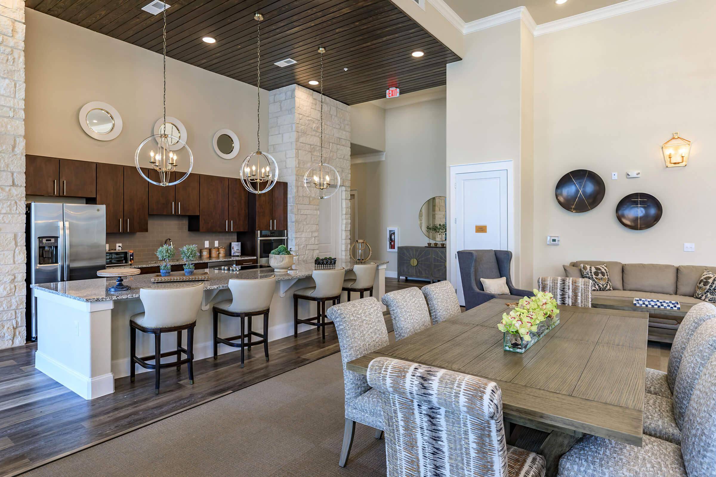 MAKE USE OF THE CLUBHOUSE KITCHEN