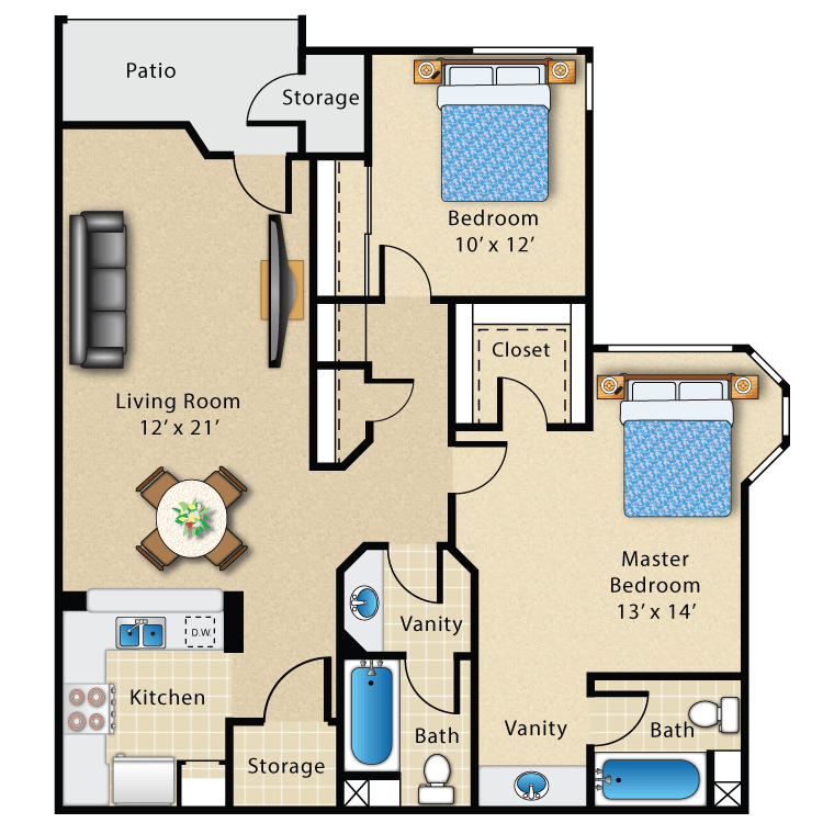 Floor plan image of Plan I