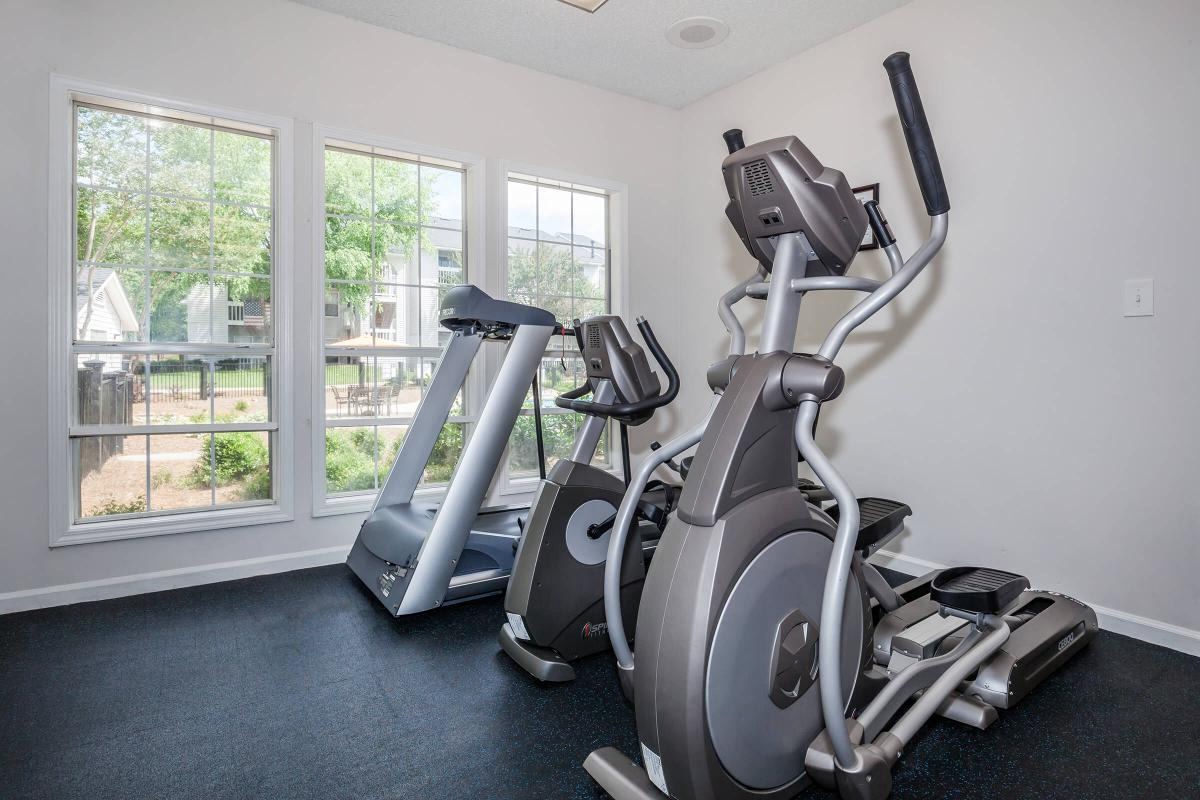 Exercise in our fitness center at Greyeagle in Taylors, South Carolina.