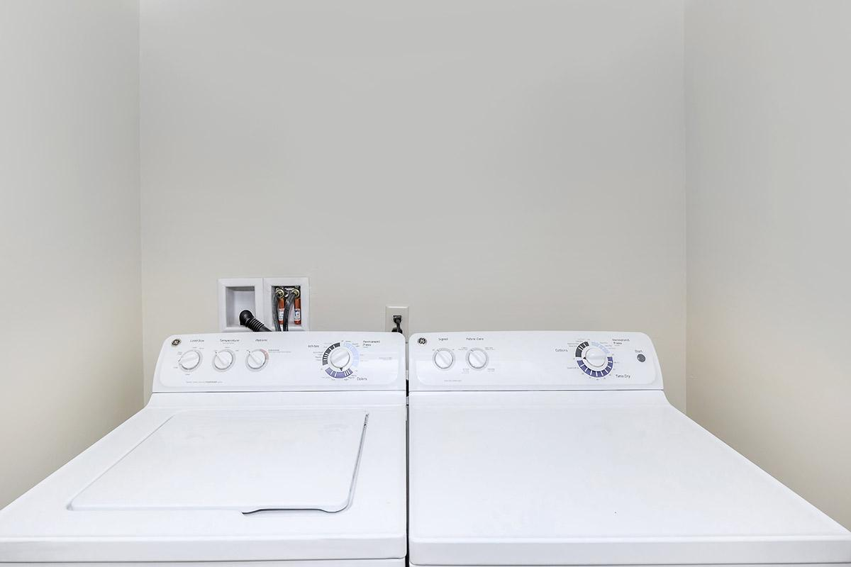 The homes at Watermark have full-size washer dryer