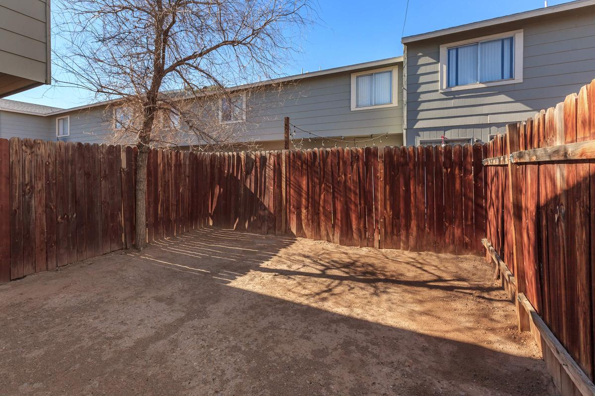 We have private backyards at Green Tree Townhomes