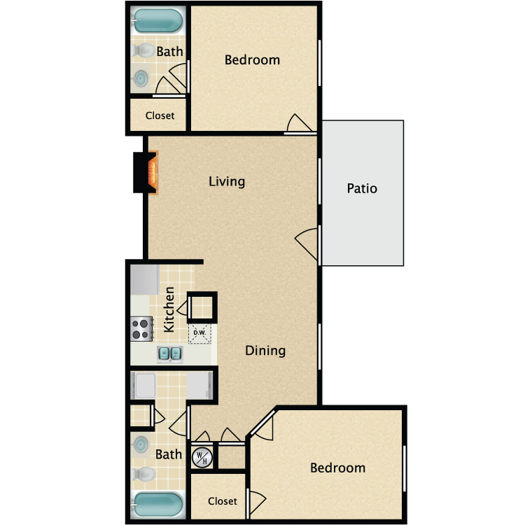 The Richmond floor plan image