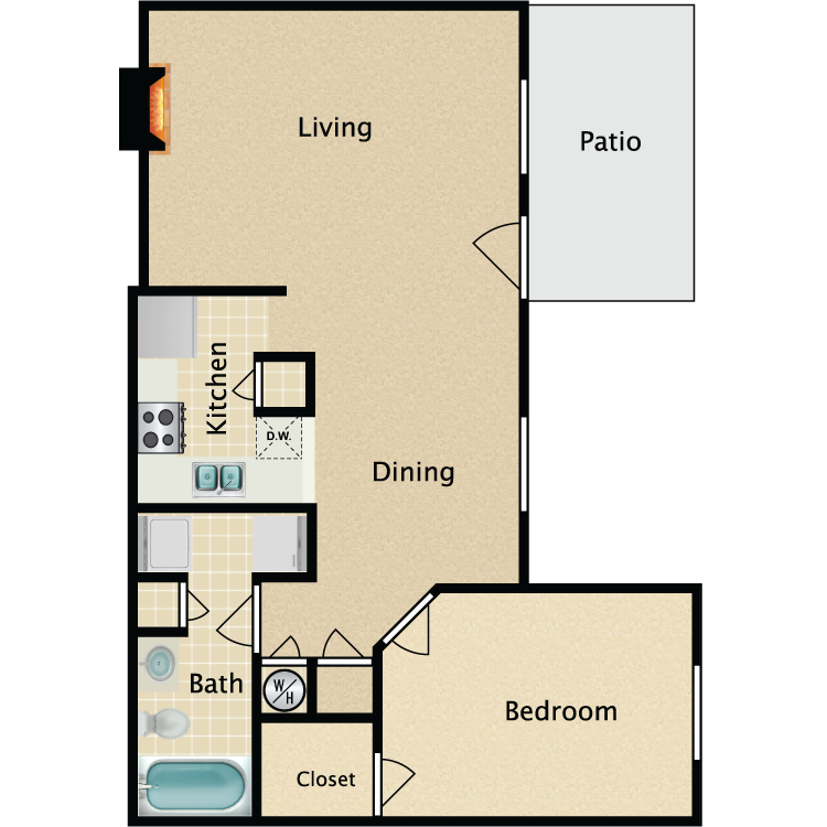 The Wellington floor plan image
