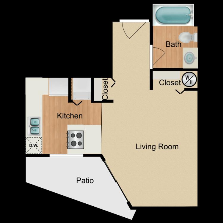 Floor plan image of Aloha Wey Studio