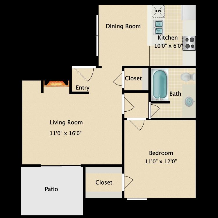 Floor plan image of Unit F