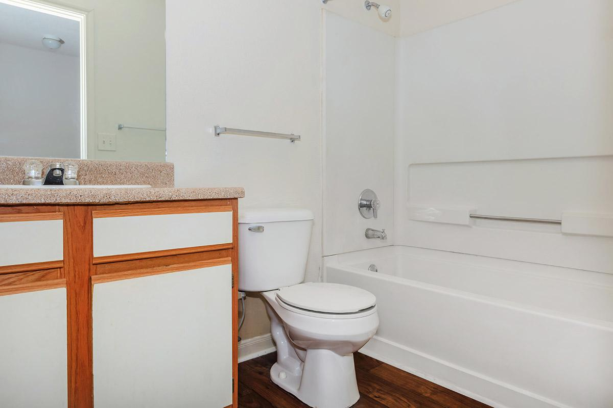 convenient tub and shower combo at Cedar Pointe Apartments in Colombia, Tennessee