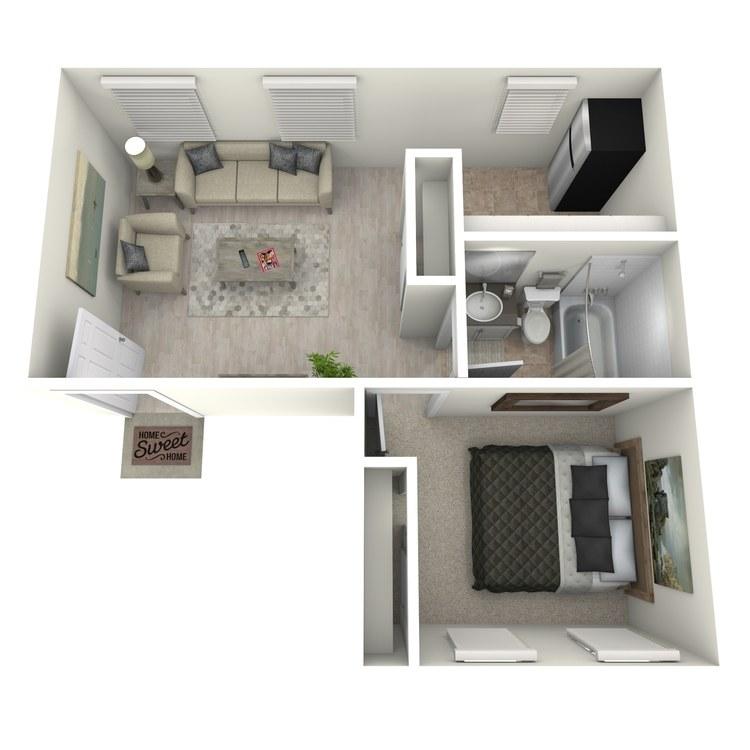Floor plan image of One Bedroom A