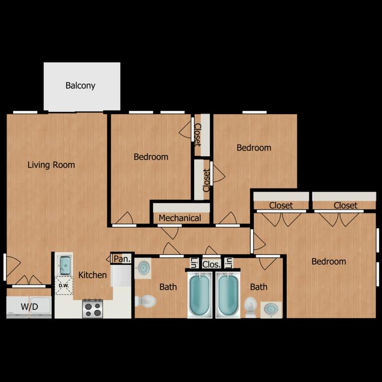 Floor plan image of Collis