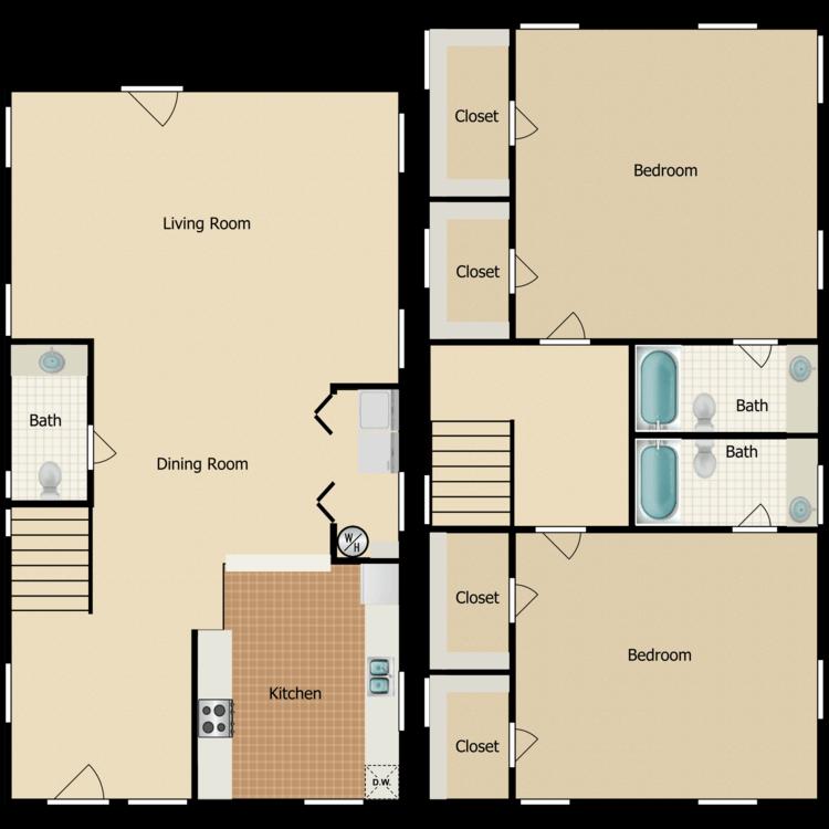 Floor plan image of Townhome