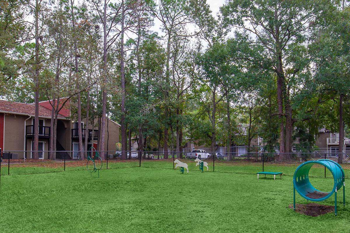 Enjoy the Bark Park here at Heron Walk Apartments in Jacksonville, Florida