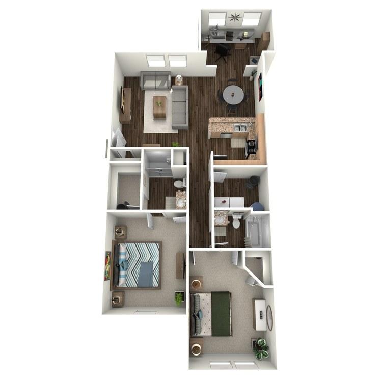 Floor plan image of B2 (Apartment)