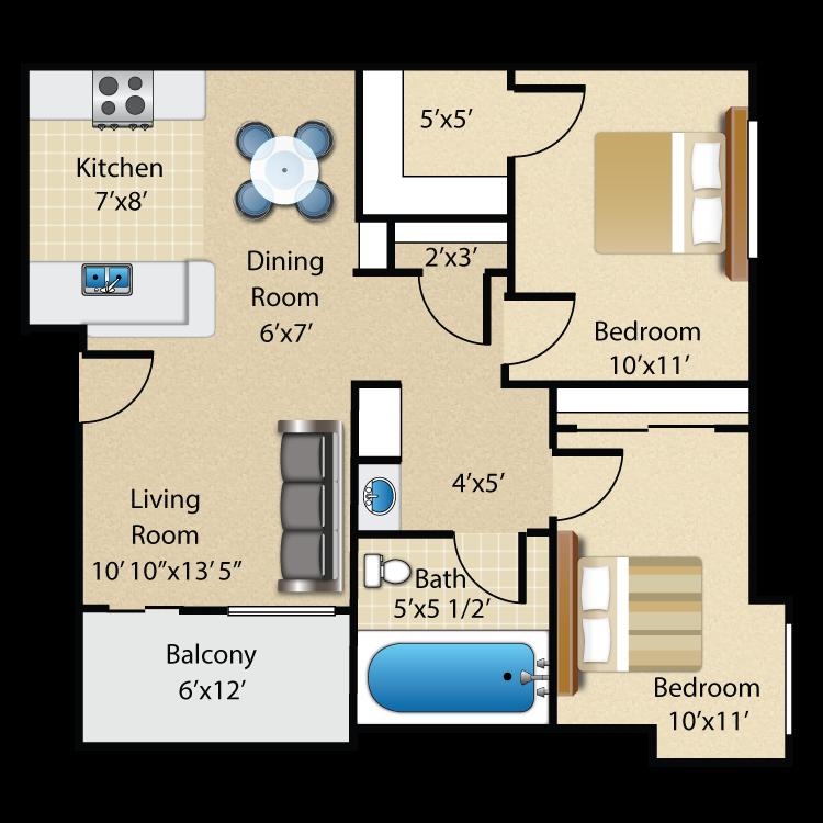 Floor plan image of Plan B Upstairs