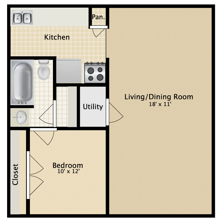 A1St Charles Row Apartments   Availability  Floor Plans   Pricing. 1 Bedroom Apartments St Petersburg Fl. Home Design Ideas