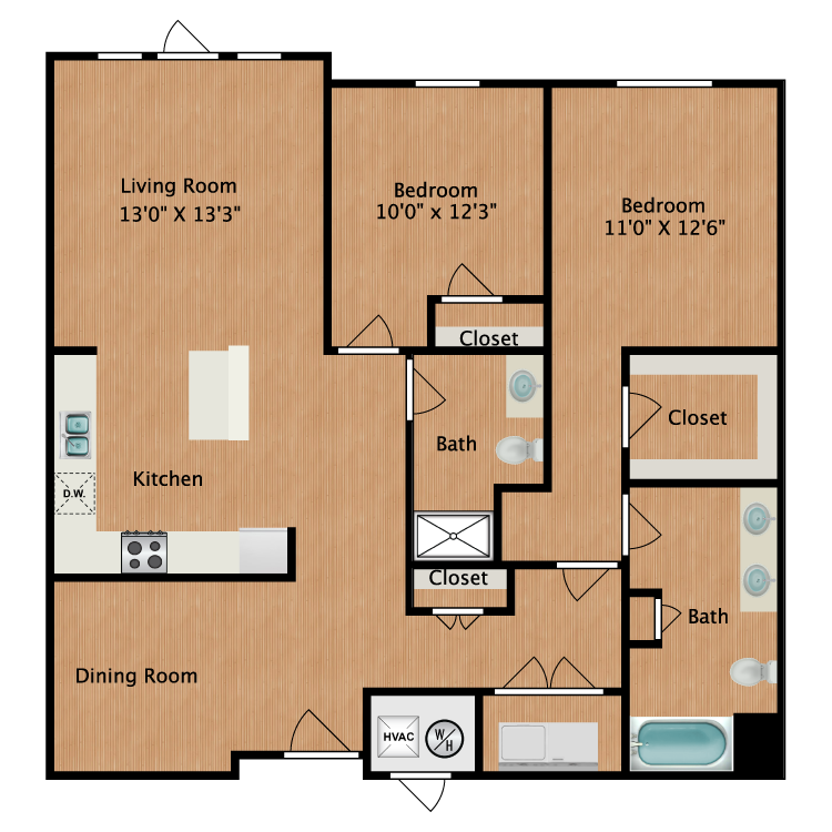 Floor plan image of Plan B3