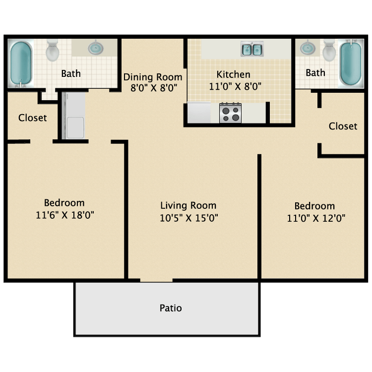 Floor plan image of Houstonian