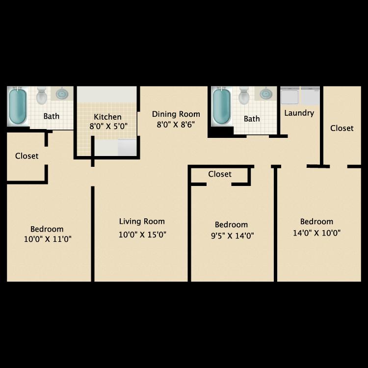 Floor plan image of La Hacienda