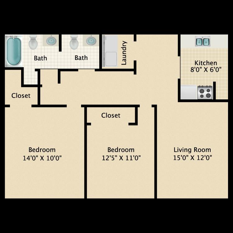 Floor plan image of Longhorn