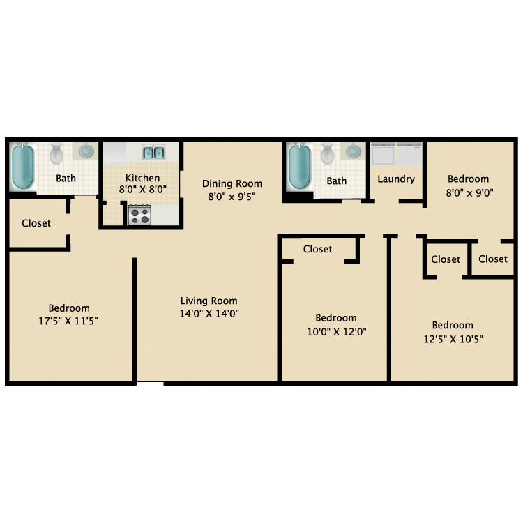 Floor plan image of Texas Pride