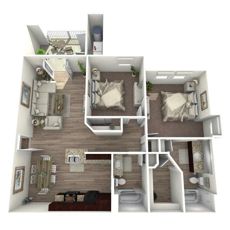 Floor plan image of B2-E