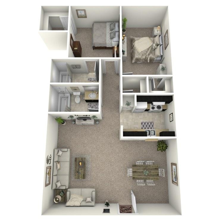 Floor plan image of B-3 LUX