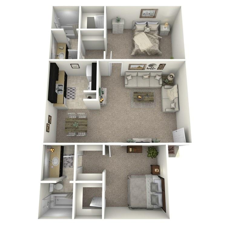 Floor plan image of B-1 LUX