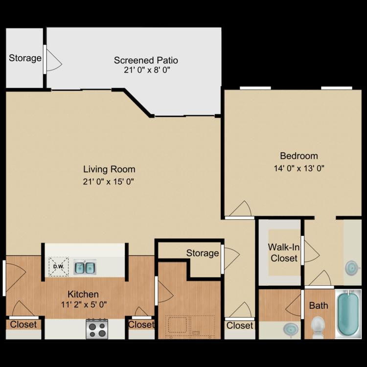 Floor plan image of Dean Martin