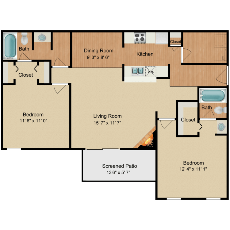 Floor plan image of Humphrey Bogart