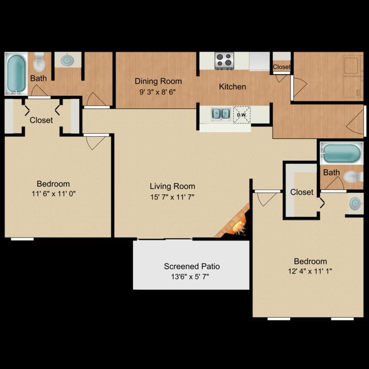 Humphrey Bogart floor plan image