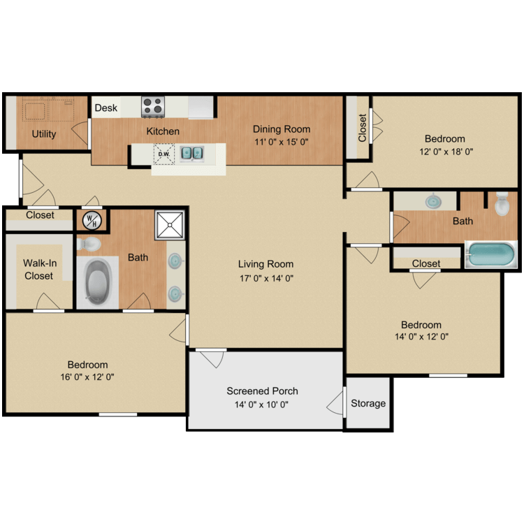 Floor plan image of James Dean