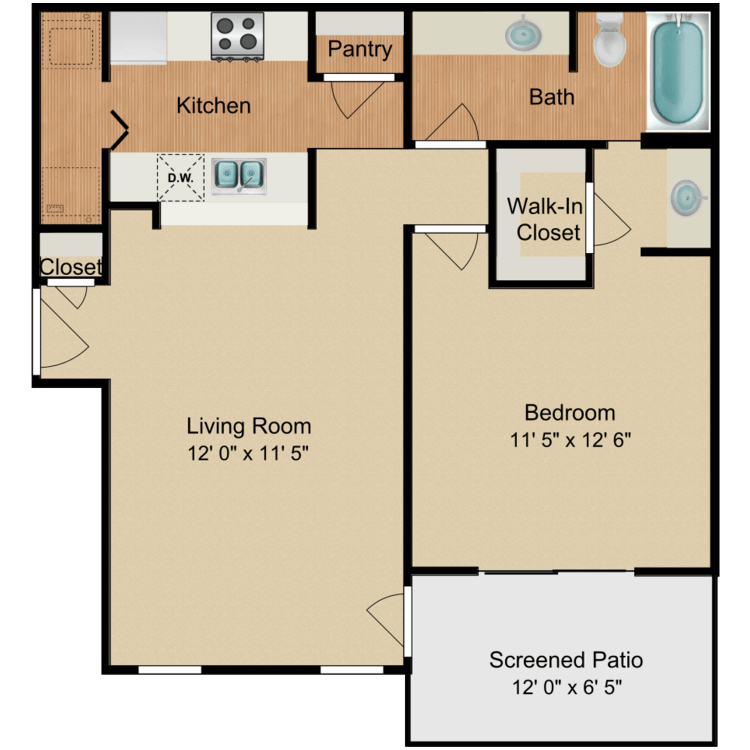 Floor plan image of John Wayne