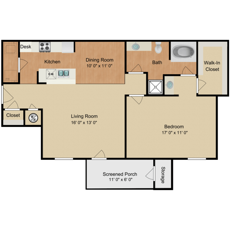 Lucille Ball floor plan image