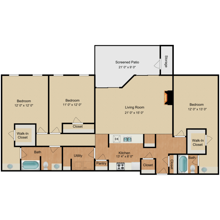 Floor plan image of Paul Newman