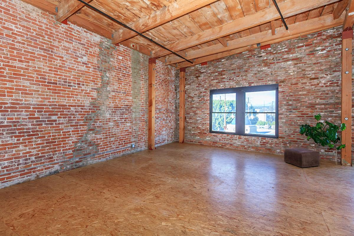 an empty brick room