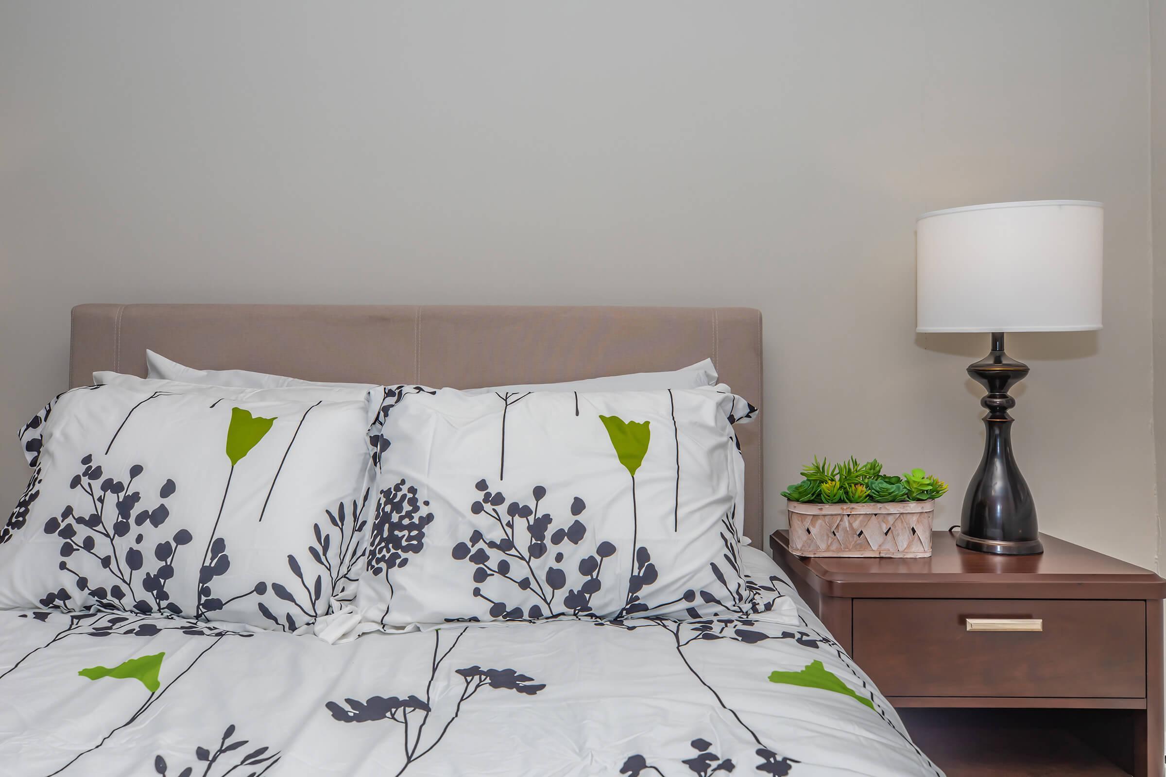 a close up of a bedroom