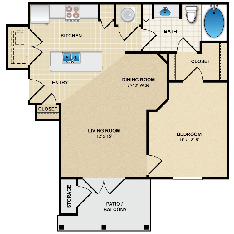 Floor plan image of A1 Petit