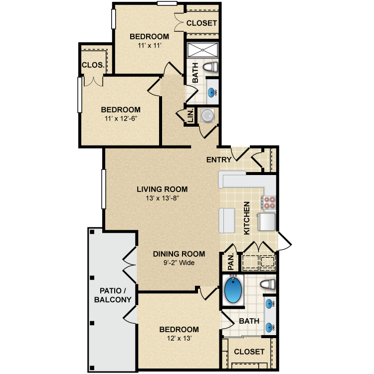 Floor plan image of C1 Provence