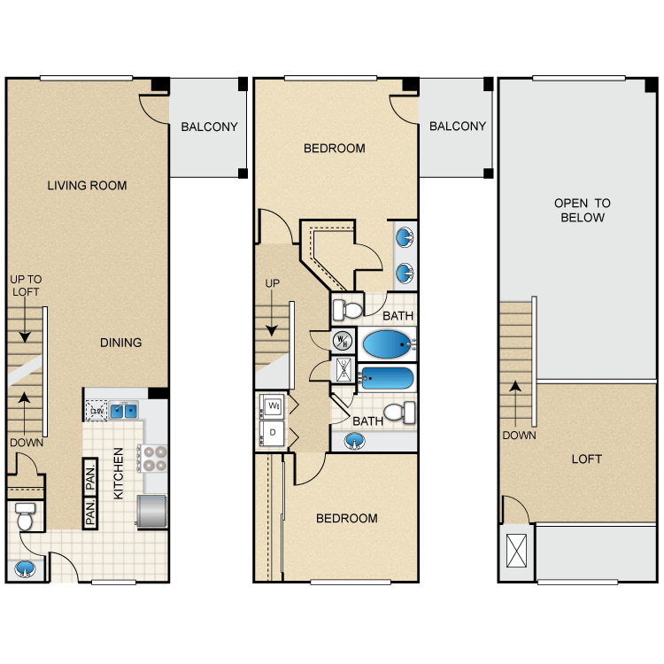 Floor plan image of Martinique