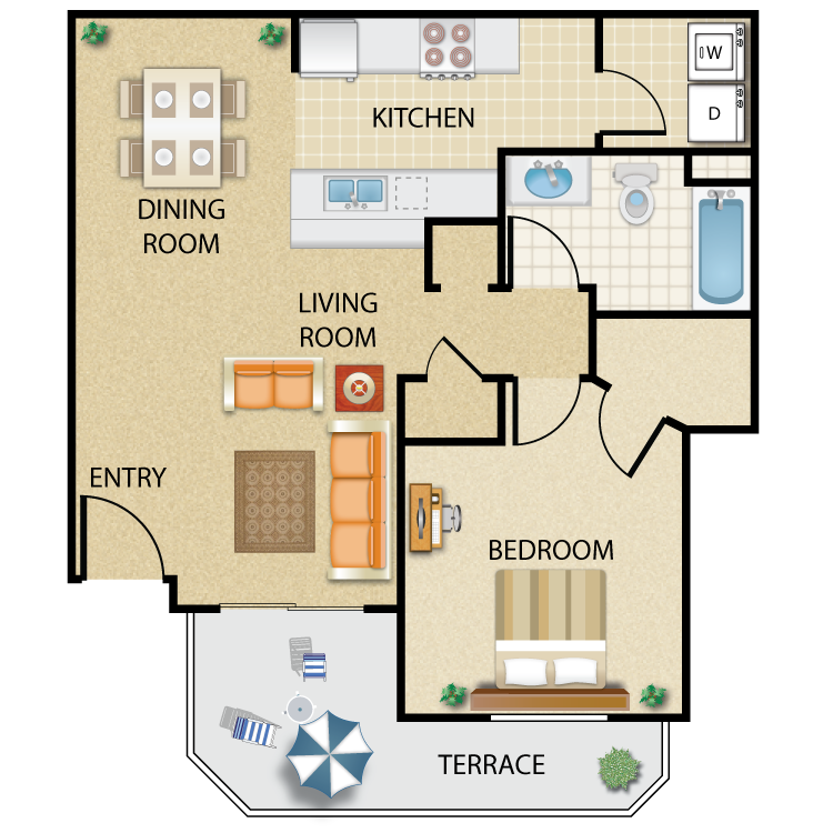 river ranch townhomes & apartments - availability, floor plans
