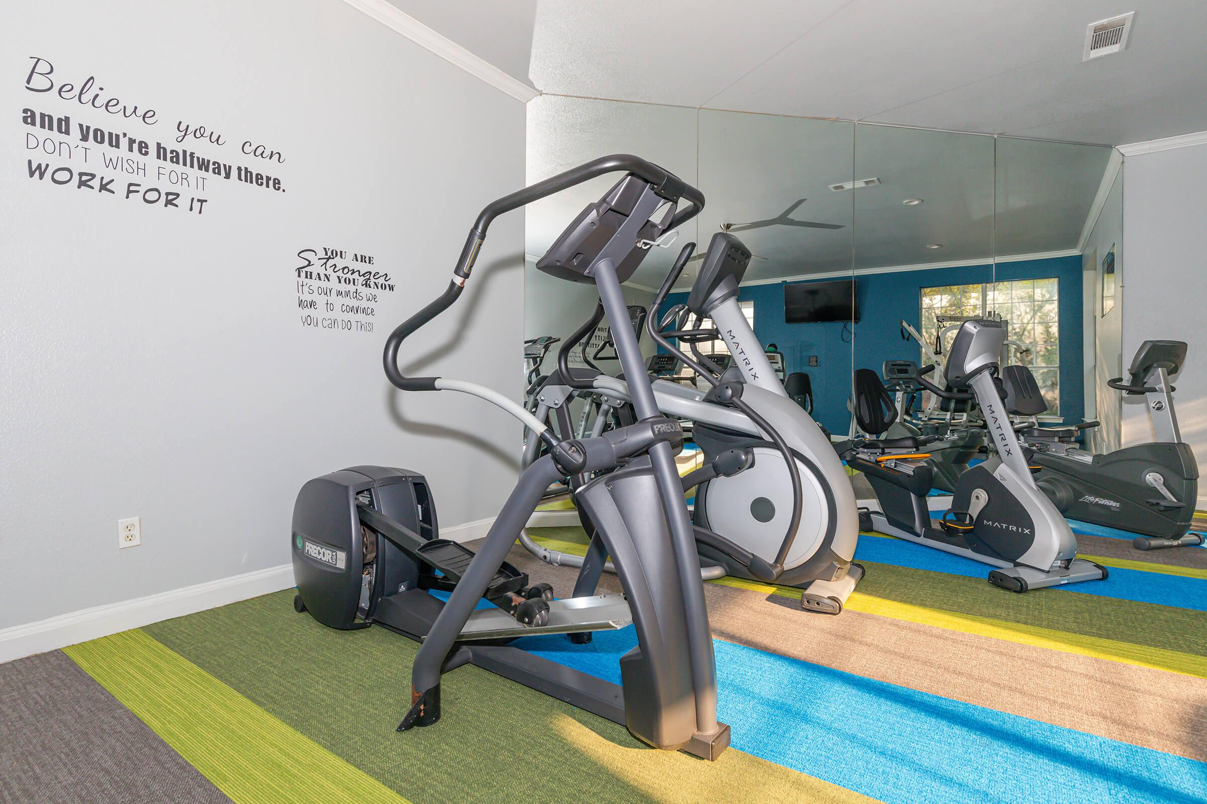 GET A JUMP ON YOUR DAY IN OUR FITNESS CENTER