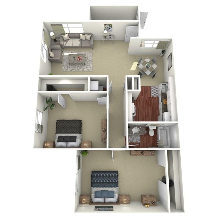 Floor plan image of 2 Beds 1 Bath