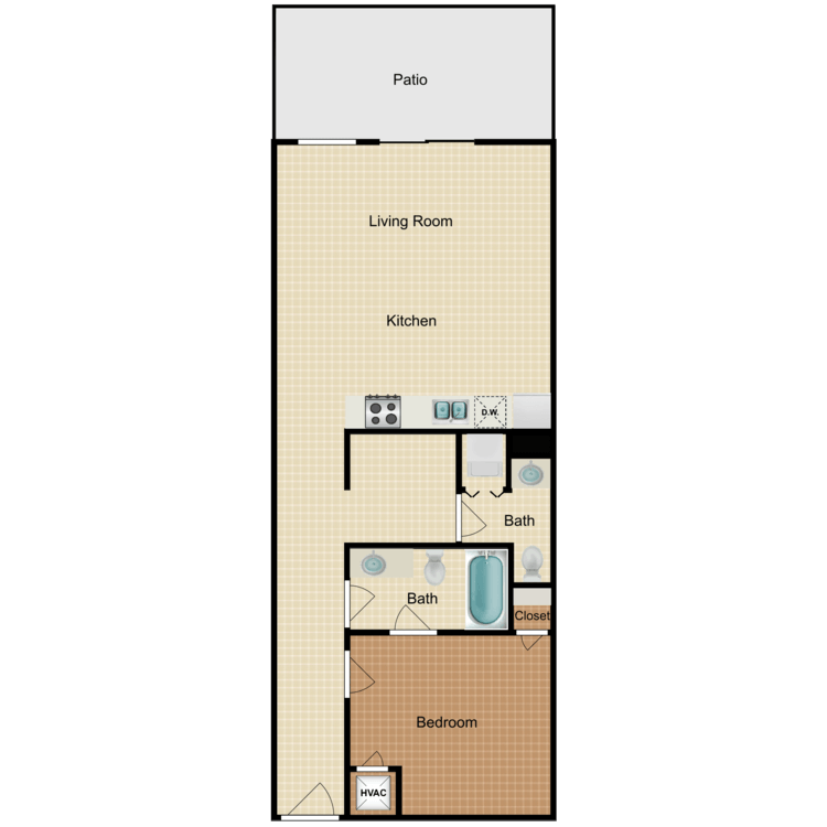 Floor plan image of The West