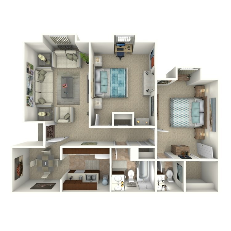 Floor plan image of B-1U