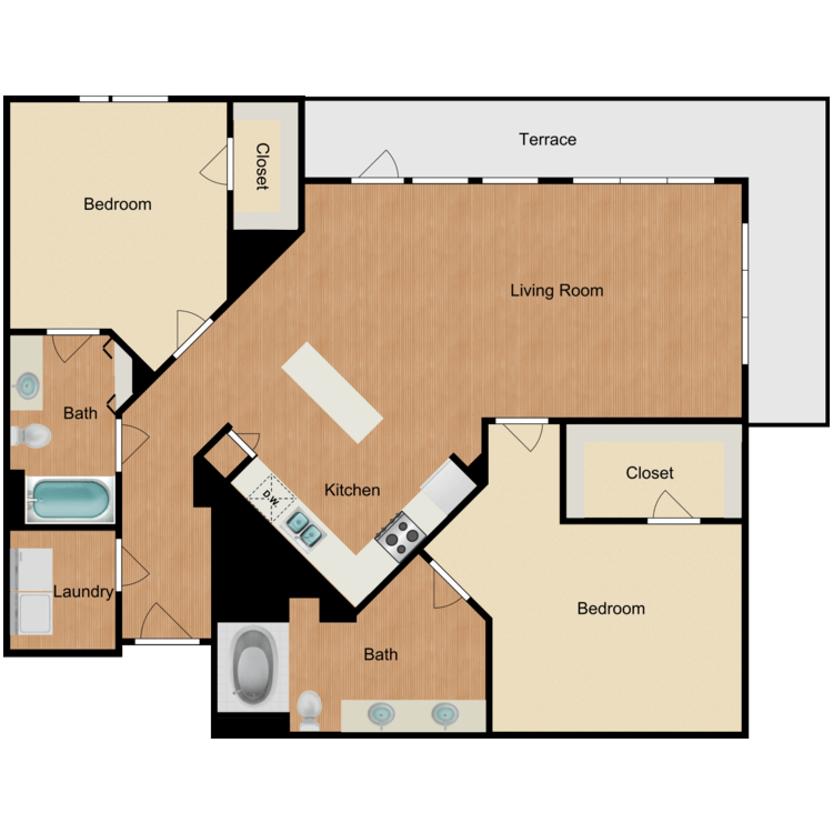 Floor plan image of The Fifth Avenue